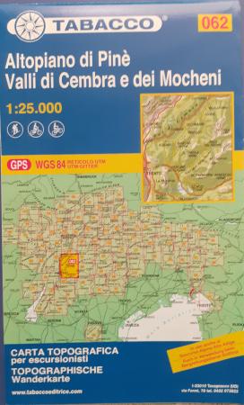 Foglio 62: Altopiano di Pinè, Valli di Cembra e dei Mocheni