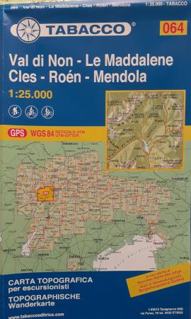 Foglio 64: Val di Non-Le Maddalene, Cles-Roén-Mendola