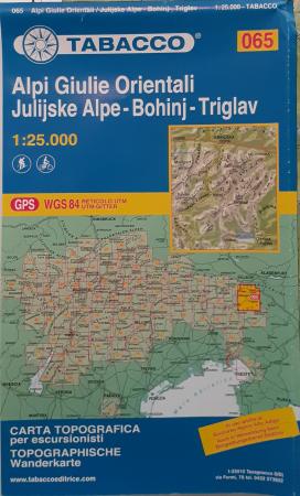 Foglio 65: Alpi Giulie orientali