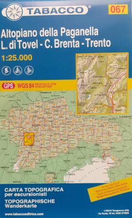 Foglio 67: Altopiano della Paganella-L. di Tovel-C. Brenta-Trento