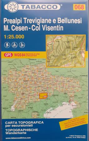 Foglio 68: Prealpi trevigiane e bellunesi-M. Cesen-Col Visentin