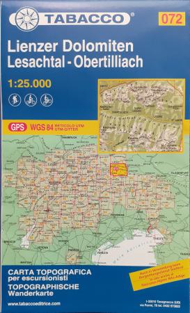 Foglio 72: Lienzer Dolomiten-Lesachtal-Obertilliach