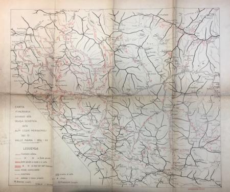 Carta itineraria annessa alla Guida sciistica delle Alpi Cozie Meridionali, vol. 3, Valle Maira - 1934 - 12