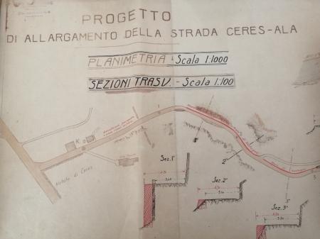 Progetto di allargamento della strada Ceres - Ala