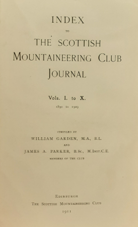Index to The Scottish Mountaineering Club Journal