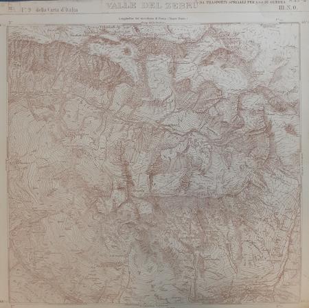 Foglio 9 III N.O. della Carta d'Italia: Valle del Zebrù