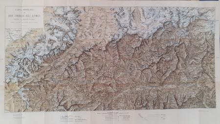 Carta itinerario del 34. congresso degli alpinisti presso la sezione d'Aosta del Club alpino italiano