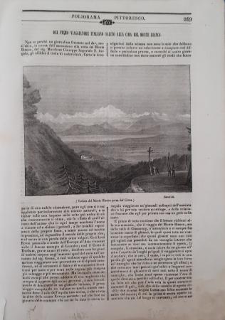 Del primo viaggiatore italiano salito alla cima del Monte Bianco