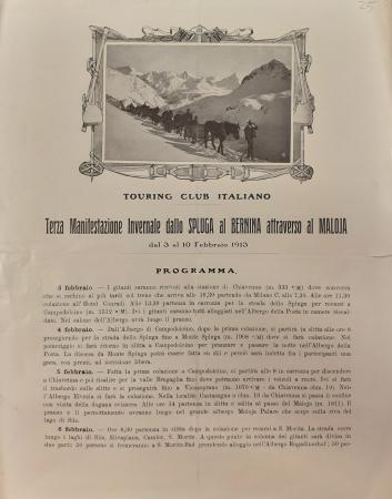 Terza manifestazione invernale dallo Spluga al Bernina attraverso al Maloja