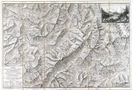 Carte physique et minéralogique du Mont-Blanc et des montagnes et vallées qui l'avoisinent