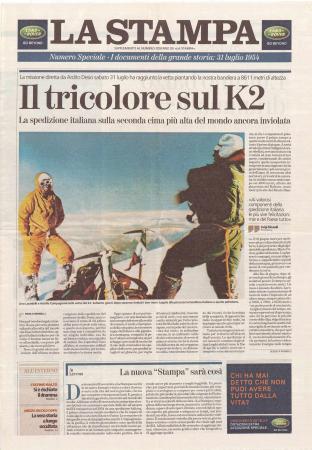[Corrispondenza e raccolta di ritagli di giornale riguardanti la spedizione italiana al K2]