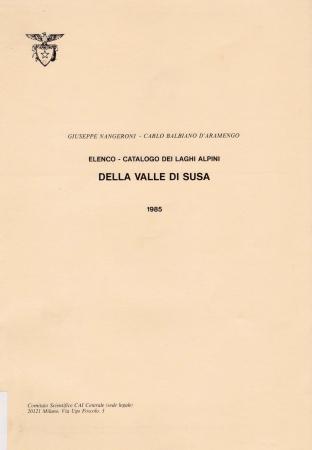 Elenco catalogo dei laghi alpini della Valle di Susa