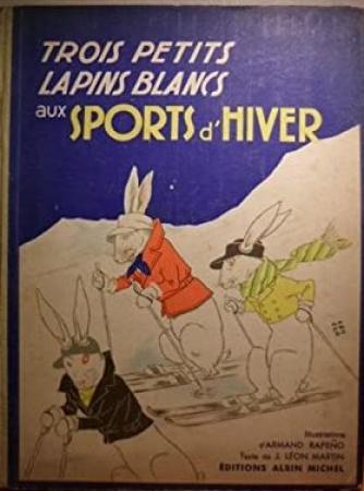 Trois petits lapins blancs aux sports d'hiver