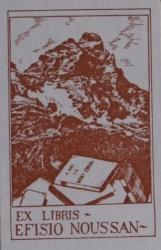 Ex libris Efisio Noussan