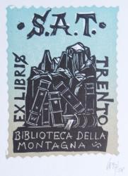 Ex libris A.T. Trento Biblioteca della Montagna
