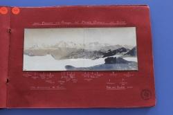 Panorama sul Gruppo del Monte Bianco dal Ruitor. Testa del Rutor