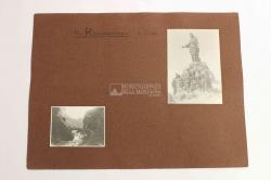 M. Rocciamelone, 15-8-1915. [Escursionisti sulla vetta sotto la statua bronzea della Madonna]